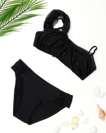 bikini زنانه تور دار - بیکینی - مشکی     Dagi 364850