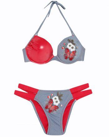 bikini زنانه بیکینی - ست - آبی - قرمز     Reflections 447825