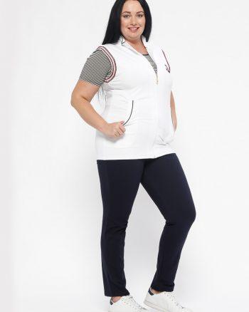 ست لباس گرمکن زنانه سفید - سورمه ای     Sementa 449488