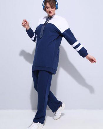 ست لباس گرمکن زنانه اسپرت - تونیک - شلوار - شیری     Alia 591185