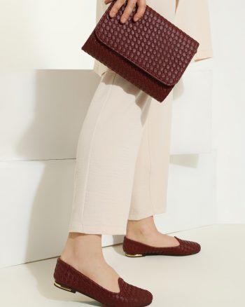 ست کیف و کفش زنانه زرشکی     Just Shoes 1059257