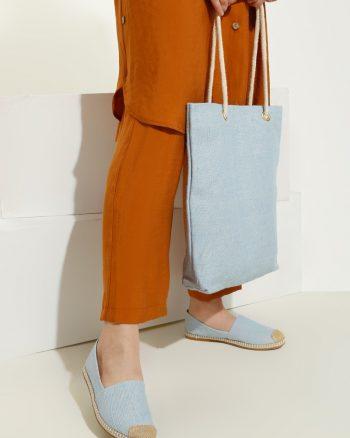 ست کیف و کفش زنانه ساده روشن - آبی     May Shoes&bags 1058425