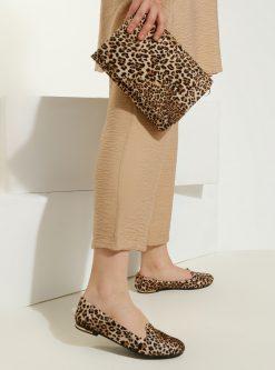 ست کیف و کفش زنانه طرح پلنگی      Just Shoes 1059254