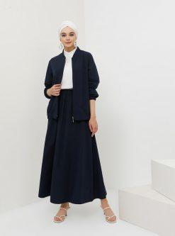 ست سایز بزرگ زنانه کت - دامن - سورمه ای     Benin 862581