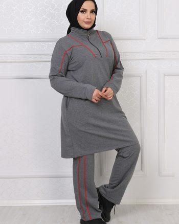 ست لباس گرمکن زنانه خاکستری آنتراسیت     ModagãœL 1059688