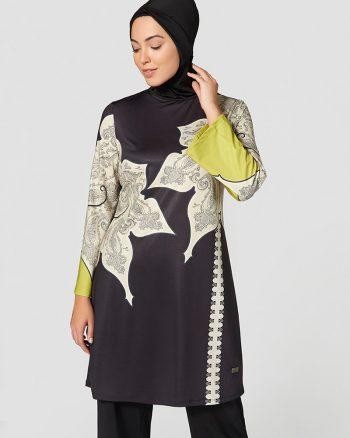 مایو اسلامی سایز بزرگ زنانه طرحدار - سایز - مایو - رنگارنگ     Mayovera 415309