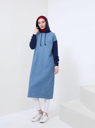 ست لباس گرمکن زنانه گارنیلی - جین - تونیک - آبی - سورمه ای     Benin 724639