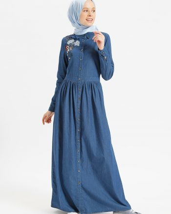 ست سایز بزرگ زنانه جین - پیراهن - سورمه ای     Benin 427562