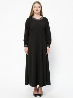 ست سایز بزرگ زنانه پیراهن - مشکی     Metex 526751