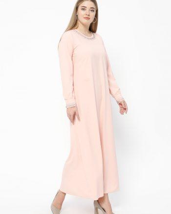 ست سایز بزرگ زنانه پیراهن - صورتی روشن     Metex 526752