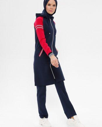 ست لباس گرمکن زنانه سورمه ای     Elif Okur 171816