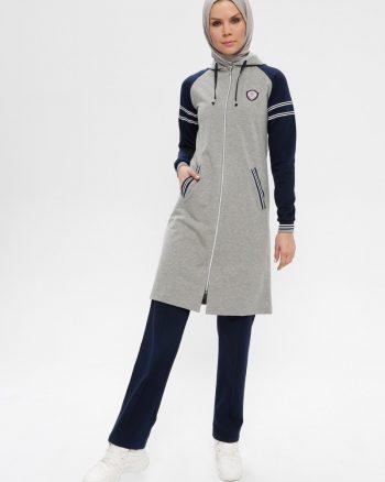 ست لباس گرمکن زنانه طوسی - سورمه ای     Elif Okur 171817