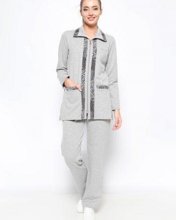 ست لباس گرمکن زنانه طوسی     Sementa 235456