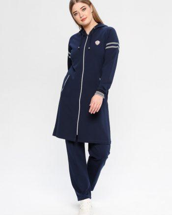ست لباس گرمکن زنانه سورمه ای     Elif Okur 171813