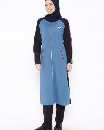 ست لباس گرمکن زنانه سورمه ای     Elif Okur 389527
