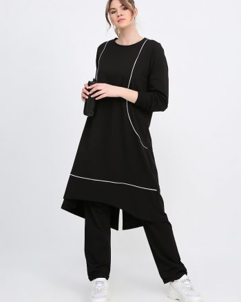ست لباس گرمکن زنانه مشکی - شیری     Alia 618922