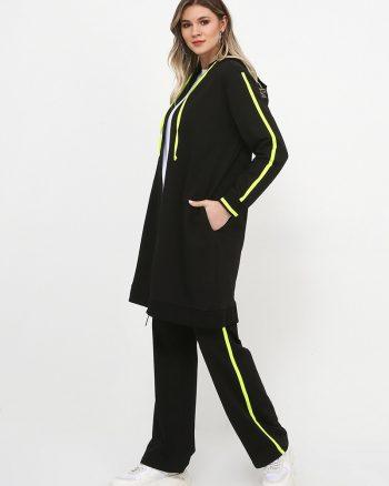 ست لباس گرمکن زنانه مشکی - نئونی     Alia 809636