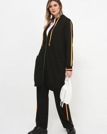 ست لباس گرمکن زنانه مشکی - نئونی - نارنجی     Alia 809637