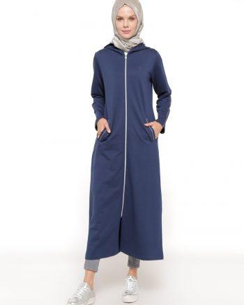 ست لباس گرمکن زنانه اسپرت - کاپ - سورمه ای     Elif Okur 315175