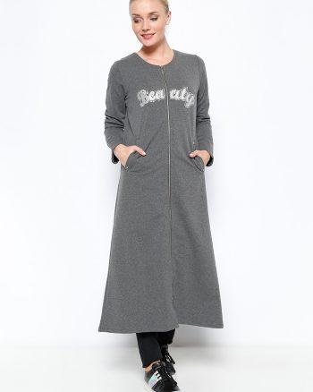 ست لباس گرمکن زنانه اسپرت - کاپ - خاکستری آنتراسیت     Sementa 250655