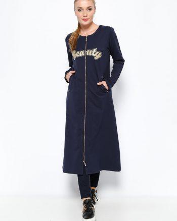 ست لباس گرمکن زنانه اسپرت - کاپ - سورمه ای     Sementa 250656
