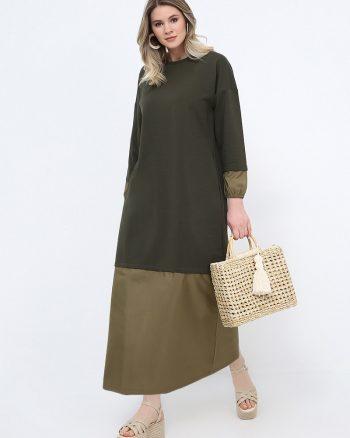 لباس شب و مجلسی سایز بزرگ زنانه گارنیلی - پیراهن - یشمی     Alia 814606