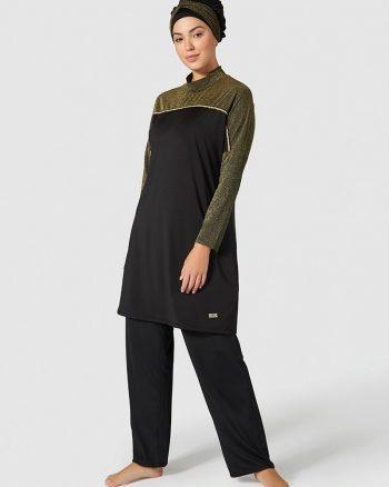 مایو اسلامی سایز بزرگ زنانه طلایی - سایز - مایو - مشکی     Mayovera 415310