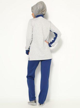 ست لباس گرمکن زنانه طوسی - آبی     Sementa 153583