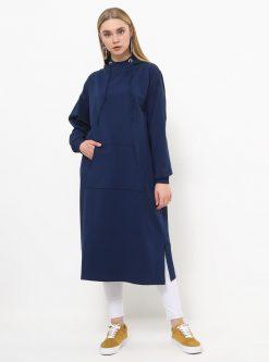 ست لباس گرمکن زنانه اسپرت - تونیک - سورمه ای     Everyday Basic 770453