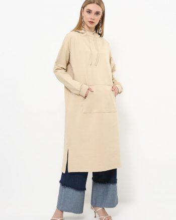 ست لباس گرمکن زنانه اسپرت - تونیک - بژ     Everyday Basic 770445