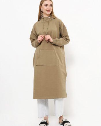 ست لباس گرمکن زنانه اسپرت - تونیک - یشمی     Everyday Basic 770440