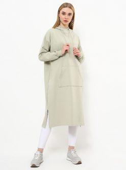 ست لباس گرمکن زنانه اسپرت - تونیک - خاکی     Everyday Basic 770438
