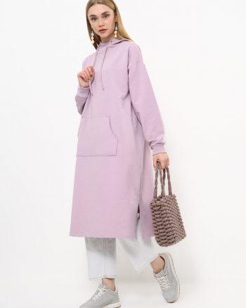 ست لباس گرمکن زنانه اسپرت - تونیک - بنفش یاسی     Everyday Basic 770443