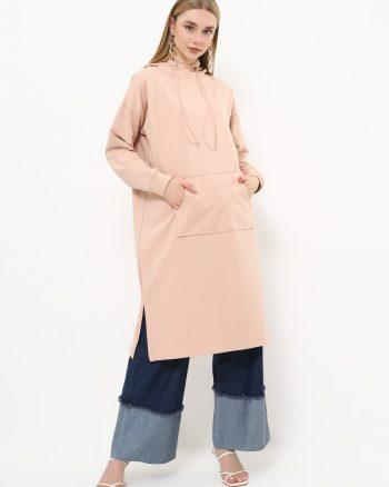 ست لباس گرمکن زنانه اسپرت - تونیک - نرم - صورتی     Everyday Basic 770442