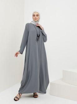 ست سایز بزرگ زنانه به همراه گردنبند - پیراهن - تیره تیره - طوسی     Benin 1049457