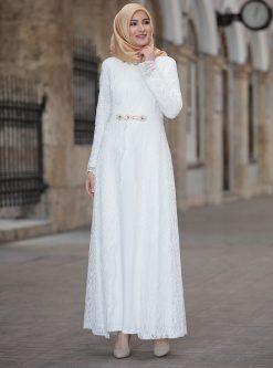 لباس شب و مجلسی سایز بزرگ زنانه لباس شب  - شیری     Amine Hã¼Ma 520370