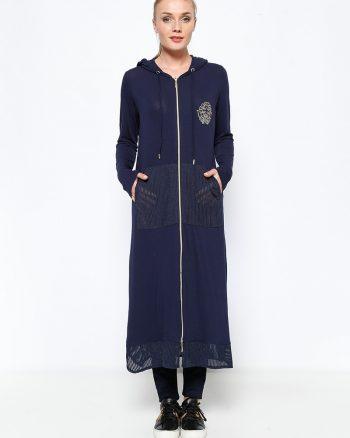 ست لباس گرمکن زنانه اسپرت - کاپ - سورمه ای     Sementa 250641