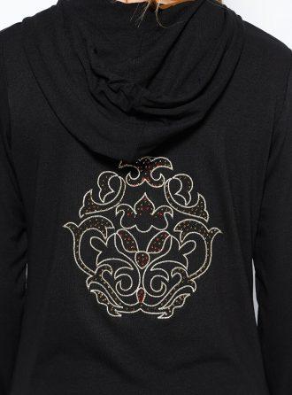 ست لباس گرمکن زنانه اسپرت - کاپ - مشکی     Sementa 250639