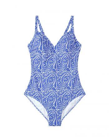 مایو اسلامی سایز بزرگ زنانه طرحدار - مایو - آبی     Violeta By Mango 378920