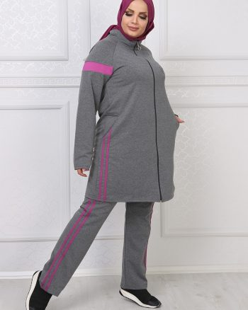ست لباس گرمکن زنانه خاکستری آنتراسیت     ModagãœL 1059690