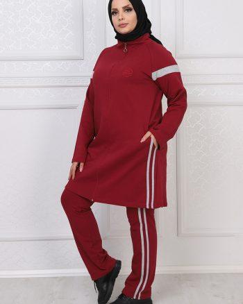 ست لباس گرمکن زنانه زرشکی     ModagãœL 1059691
