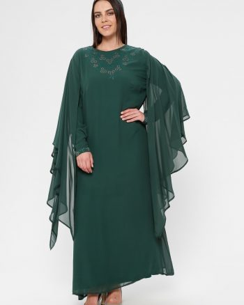 لباس شب و مجلسی سایز بزرگ زنانه لباس شب      Simetrik Moda 883163