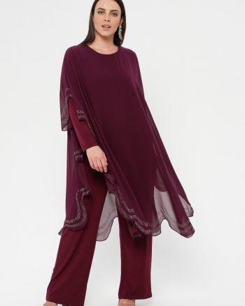 لباس شب و مجلسی سایز بزرگ زنانه لباس شب - سرهمی     Simetrik Moda 883171