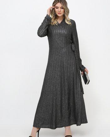 لباس شب و مجلسی سایز بزرگ زنانه اکریلیکی - لباس شب  - مشکی     Alia 814791
