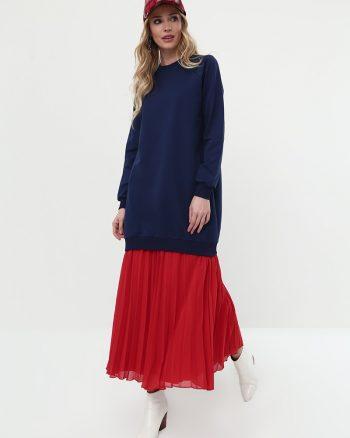 ست لباس گرمکن زنانه اسپرت - تونیک - سورمه ای     Everyday Basic 581069