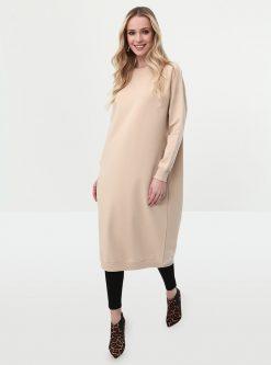 ست لباس گرمکن زنانه ???? ?? - اسپرت - تونیک - بژ     Everyday Basic 581093
