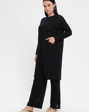 ست سایز بزرگ زنانه تونیک - شلوار - سورمه ای     Efraze 1075432