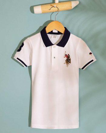 تیشرت بچه گانه مردانه سفید  U.S. Polo Assn. 1564721168