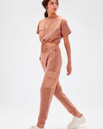 ست لباس راحتی طرح دار الاستن TRENDYOLMİLLA 156646217