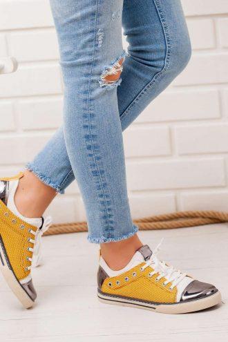 کفش اسپرت زرد  Modagon 156576273